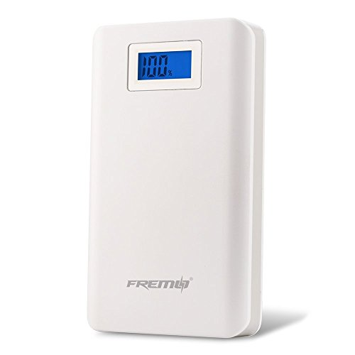 Fremo 11000mAh High Capacity External Travel Battery Pack Power Bank Charger Dual USB Charger - Retail Packaging - White
