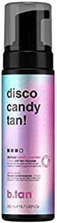 b.tan Self Tan Mousse - Disco Candy Tan - Candy Scented Party Proof Self Tanner for Fast, Dark Tan, 6.7 fl oz