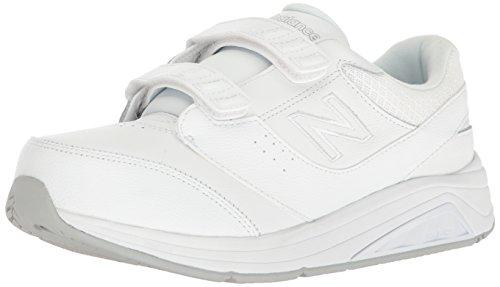 New Balance Women's 928 V3 Hook and Loop Walking Shoe, White/White, 7 Narrow