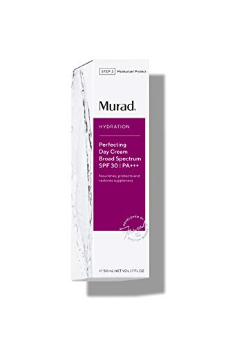 31j 3EqEyZL - Murad Hydration Perfecting Day Cream Broad Spectrum SPF 30 - Rich, Lightweight Moisturizer for Face with SPF - Anti-Aging Face Cream with SPF 30, 1.7 Fl Oz