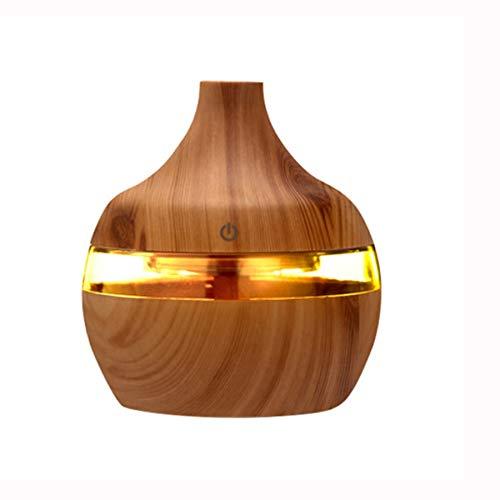 XZJJZ USB Luftbefeuchter Elektrischer Aromadiffusor Nebel , Holzmaserung Öl Aromatherapie Mini Für Auto Home Office