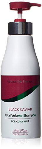 Mon Platin 500ml Natural Silk Therapy Black Caviar Total Volume Shampoo for Curly Hair