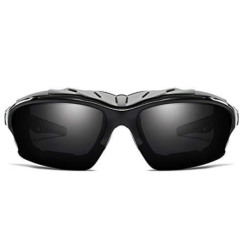 MGWA Gafas de sol de policarbonato con protección UV, polarizadas y anticolor, para equitación al aire libre, UV400, color verde/gris, tendencia para ...
