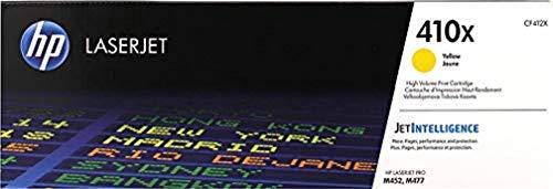 HP 410X (CF412X) Cartucho de tóner, Amarillo de Alto Rendimiento Color Laserjet Pro m452dn,...