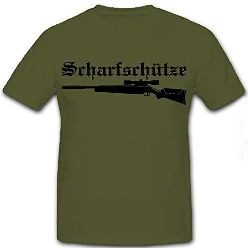 Sniper escenario Caza Aire Comprimido Cazadores Sniper Rifle Sport Mira telescópica Silenciador–Camiseta...