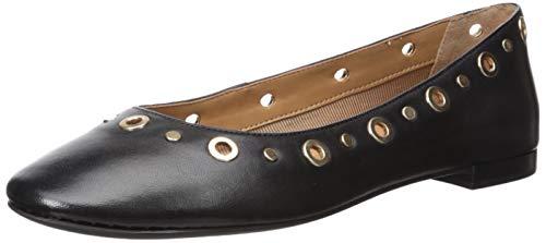Aerosoles Women's Goldie Ballet Flat, Black Leather, 8 M US