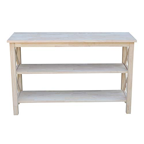 International Concepts Hampton Console or Sofa Table Unfinished