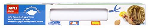 APLI Kids 17537 - Rollo adhesivo blanco para colorear