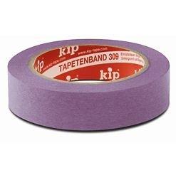 KIP 309 Tapetenband , Abklebeband, Spezialabklebeband für Tapeten 1 Rolle 50 meter x 38mm