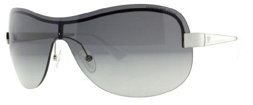Big Sale Emporio Armani 9759/S Women's Navigator Sports Sunglasses - Palladium/Gray Gradient / Size 99/01-130