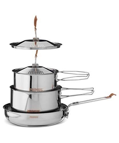Primus Edelstahlset Campfire - Kochset mit Töpfe und Pfanne