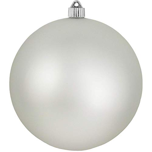 Christmas by Krebs Giant Commercial Shatterproof UV Resistant Plastic Christmas Ball Ornament, 8 (200mm), Dove Grey