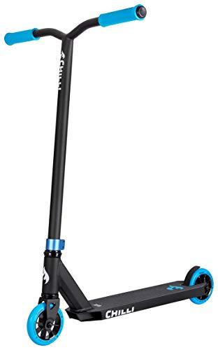 Chilli Pro Scooter Base Neon Blue | Erstklassiger Blauer Stunt-Scooter für Einsteiger | Robuster Roller, drehbarer Lenker ideal für Tricks geeignet | Leicht & schnell für maximales Fahrvergnügen