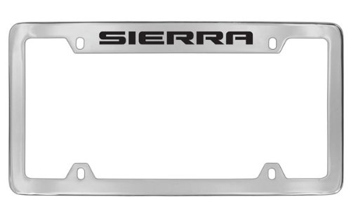 GMC Sierra Chrome Plated Metal Top Engraved License Plate Frame Holder by GMC