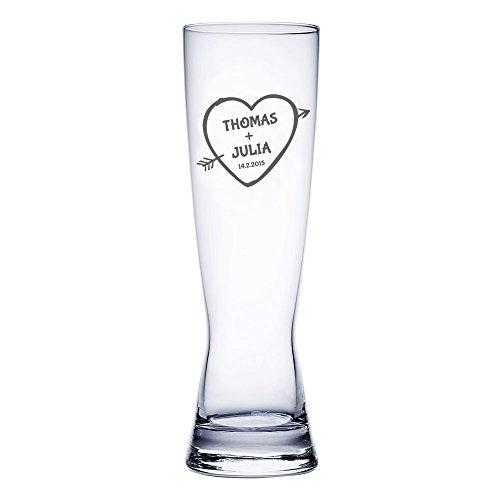 AMAVEL Bicchiere da Birra Weiss con Incisione Freccia...