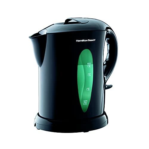 Hamilton Beach Electric Tea Kettle, Water Boiler & Heater, 1.8 L, Cordless, Auto-Shutoff & Boil-Dry Protection, Black (K6080)