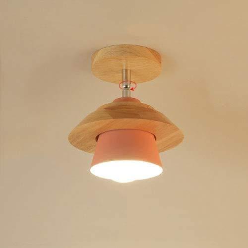 RNMQ eenvoudige en moderne led-verlichting Flying Saucer plafondlamp, het lichaam van de hoogwaardige ijzeren lamp van massief hout plafondlampen voor keuken, eetkamer, schuur