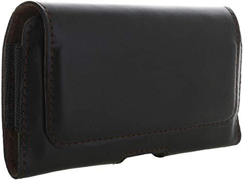 honju Horizon Echt Leder Quer Handy Gürteltasche schwarz - Tasche für Samsung Galaxy A10 , A20e, A30s,  A3 (2017), A5 (2017), A6 (2018), A7 (2018), A8 (2018), J3 (2017), A40, A50, S9, S10