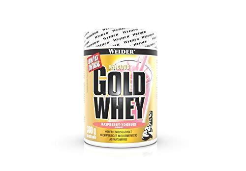 Weider Gold Whey Protein, Himbeer-Joghurt, 300g, Low Carb, Eiweißpulver für Fitness und Bodybuilding