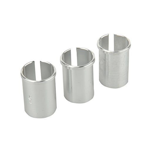 FISCHER Unisex Sattelstützen 3x Reduzierhülsen-set, silber, Einheitsgröße