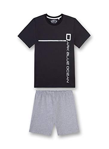 Sanetta Jungen kurz Zweiteiliger Schlafanzug, Grün (Phantom 5169), Herstellergröße: 152