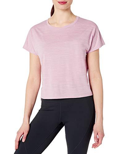 Core 10 Women's Standard Mesh Cropped T-Shirt, Mauve Jacquard Spacedye, X-Large