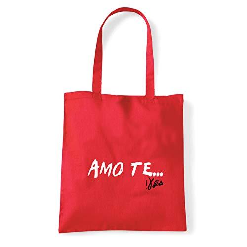 Art T-shirt, Shoulder Bag I Love You Vasco, Shopper, Sea -  Red -  One size
