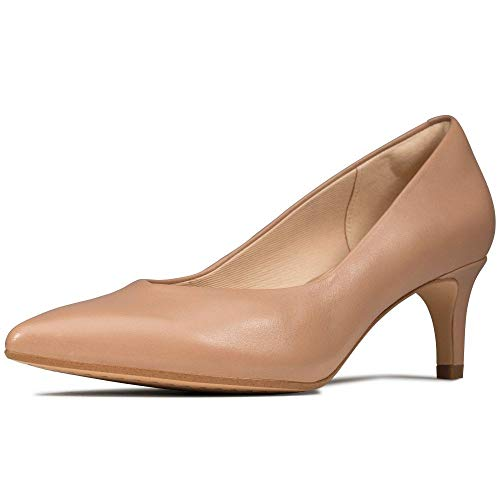 Clarks Damen Laina55 Court Pumps, Beige (Praline Leather Praline Leather), 40 EU