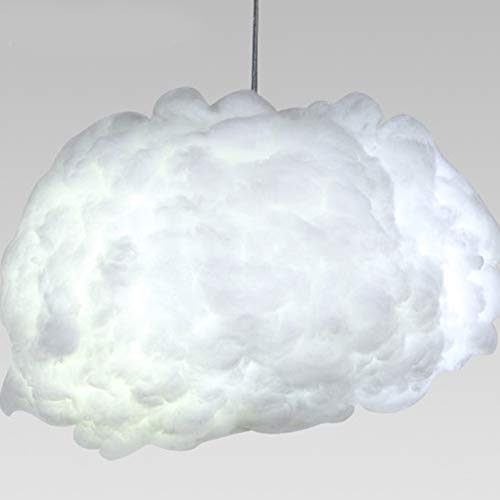 Injuicy LED seta nuvole lampada a sospensione cotone attaccatura lampada a sospensione lampadario lampada da soffitto con 6 lampade a risparmio energetico lampada camera da letto (diametro 800 mm)
