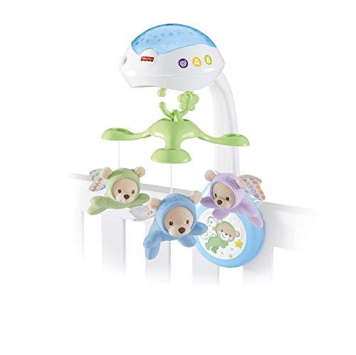 QJM sonajero Colgantes Los sueños 3-en-1 de proyección móvil, New Born Baby-luz del proyector móvil de Cuna, Adecuada Desde el Nacimiento traqueteo Colgante
