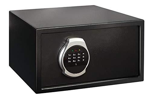 Domino Tresor Safe 31x20x20cm inkl. Montagematrial   Elektronik-Zahlenschloss   LED   Möbeltresor Schwarz