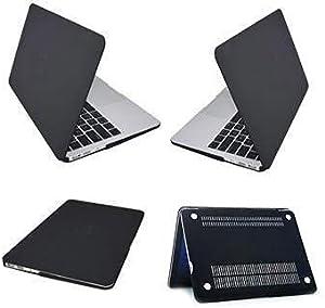 غطاء جراب مطاطي صلب رفيع اللون أسود جميل وجميل لهاتف Apple MacBook Retina 12 بوصة