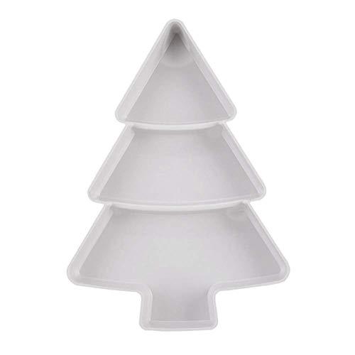 Plateau de Service en Plastique Plateaux de Compartiment en Forme d'arbre de Noël Plateaux de Service boîtes de collations pour la décoration de Mariage de noël