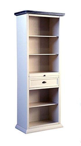 Bibliothèque Meuble de séjour, 5 étagères, 2 tiroirs en bois