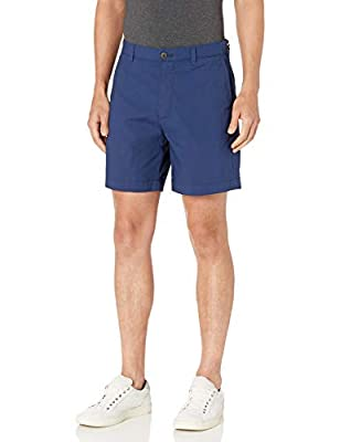 "Amazon Essentials Men's Standard Regular-Fit Lightweight Stretch 7"" Short, Navy, 30"
