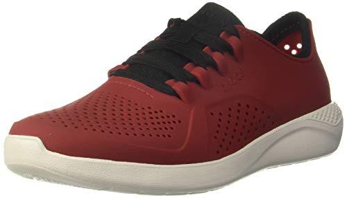 crocs Herren Men's LiteRide Pacer Sneaker | Comfortable Tennis Shoes for Men Turnschuh, Schwarz/Pfeffer/Weiß, 41 EU
