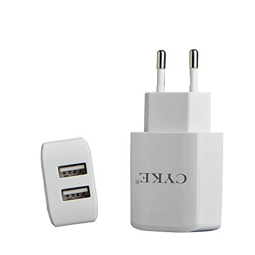 Mettime Adaptador de Viaje Universal USB Cargador Conector 20W Cargador con 2Caras Adaptador para iPhone iPad Android Samsung Teléfonos Móviles, Tablets y Kindle EU