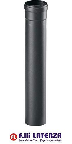 Buis zwart mat voor pelletkachels van staal roestvrij 1,2 mm 2000 mm 80 HUBEN