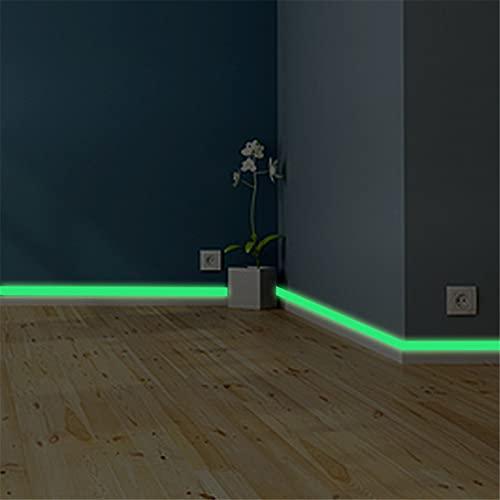 Pegatinas luminosas que brillan en la oscuridad cinta impermeable al aire libre, pegatinas de vinilo para decoración de habitación, pegatina fluorescente de emergencia (2 cm x 1 m)