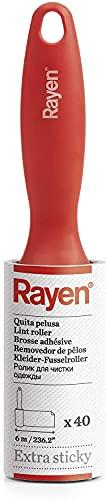Rayen - Rodillo quita pelusa. Quita pelusas súper adherente. Cuenta con 40 hojas para quitar pelusas y polvo.