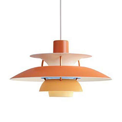 DSFHKUYB Lámpara Colgante Moderna Y Simple Luz Pendiente De Cabeza Individual Se Puede Instalar En El Dormitorio Estudio Salón Comedor,Naranja,D50cm