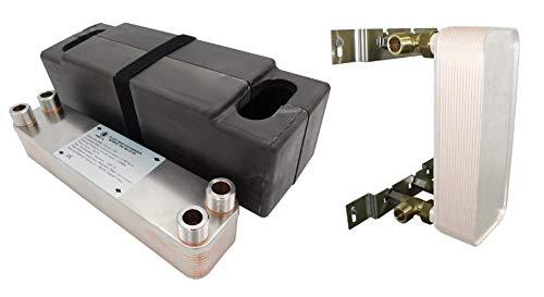 """Edelstahl Wärmetauscher Plattenwärmetauscher NORDIC TEC Ba-23-20, 90kW, 20 platten, 3/4"""""""