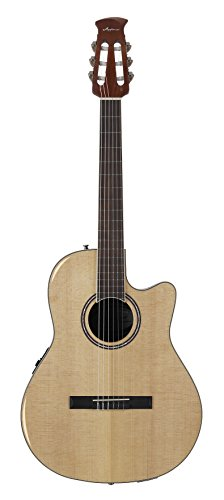 Ovation Guitar Applause Balladeer Plus Spruce Top Acoustic Electric Nylon