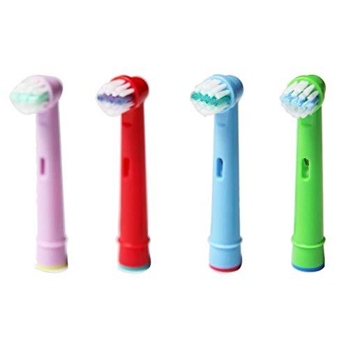 CZYU Cepillo de dientes eléctrico cabezales de repuesto en forma for Oral B Vitality Cepillo Cabeza sensible o Stander caso titular Soporte diente limpio Herramientas ( Color : Kids Stage EB10 4 )