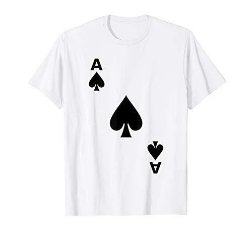 Pik As Karte Kartenspiel Spielkarte Poker Kostüm Verkleidung T-Shirt