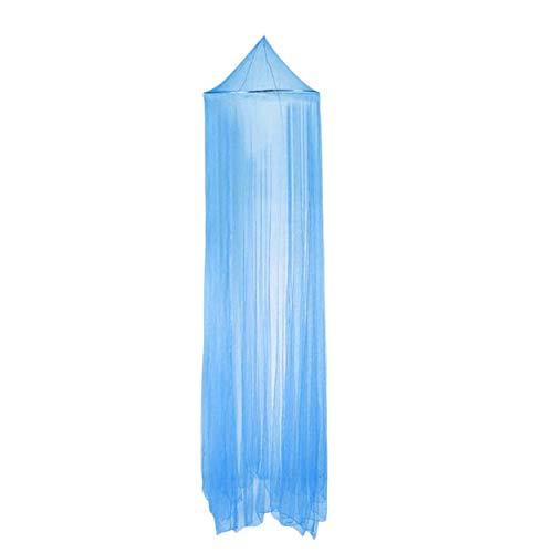 Tree-fr-Life Extérieur été Rond Dentelle Insecte lit auvent Filet Rideau Polyester Maille Tissu Textile à la Maison élégant dôme Suspendu moustiquaire Bleu Clair