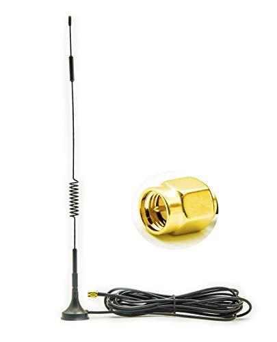 Vecys Antenna 4G LTE Adattatore Spina SMA 7 dBi Antenna 4G Esterna RG174 Cavo magnetico base 3 m Compatibile con Router Antenna 2G 3G 4G LTE Router Huawei ZTE Netgear Mobile Hotspot Aircards LTE