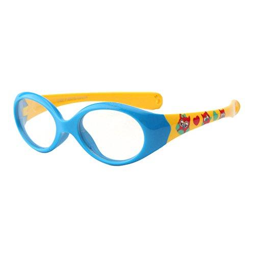 Junkai Junkai Mädchen Jungen Silikon Klare Linse Brillengestell + Auto Form Brillenetui - ka18071009