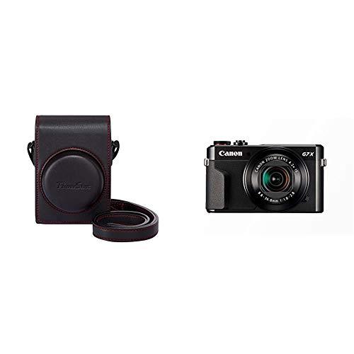 Canon PowerShot G7 X Mark II Digitalkamera (mit klappbarem Display, 20,1 MP, 4,2-Fach optischer Zoom 7,5cm LCD-Display) schwarz & DCC-1880 Kameratasche für PowerShot G7 X Mark II schwarz