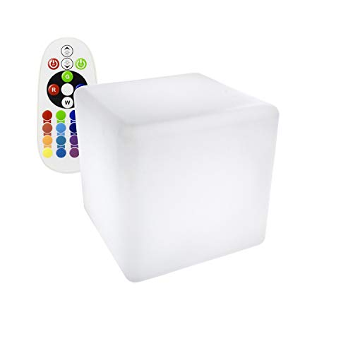 LEDKIA LIGHTING Cubo LED RGBW 40cm Recargable